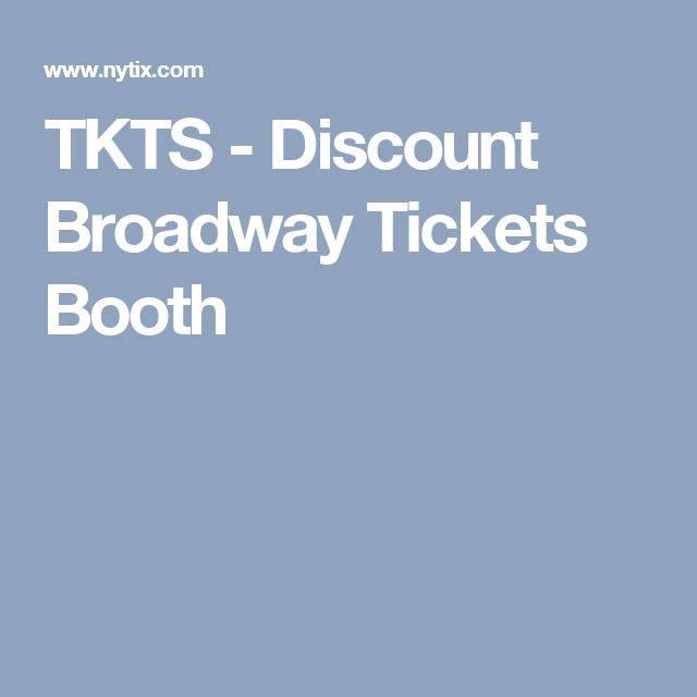 TKTS  - Discount Broadway Tickets Booth