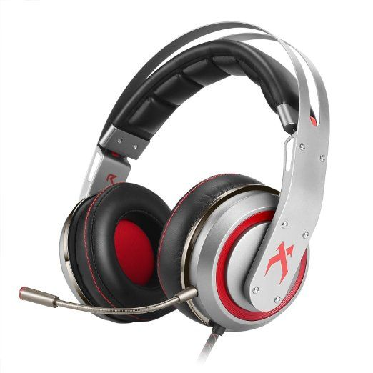 XIBERIA T19 Surround Sound USB Gaming Headset, Over-ear Kopfhörer mit Abnehmbarem Mikrofon