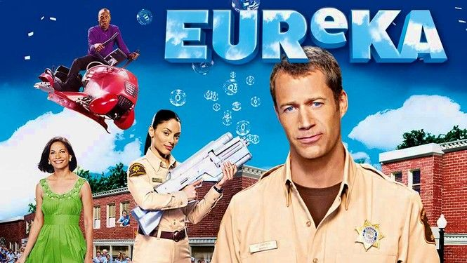 Eureka - When he takes the job of sheriff of the little town of Eureka, Ore., ex-U.S. marshal Jack Carter (Colin Ferguson) discovers that the community's quiet citizens are actually brilliant scientists working for a dangerous top-secret research facility. As he works to fix the damage caused by experimental technology gone disastrously awry, Carter keeps a watchful eye on his rebellious daughter. Jordan Hinson co-stars in this offbeat sci-fi series.