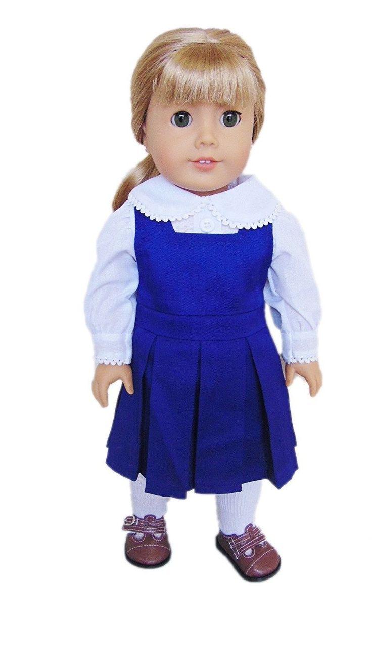 My Brittany's Navy Blue Catholic School Jumper for American Girl Dolls. Free Shi