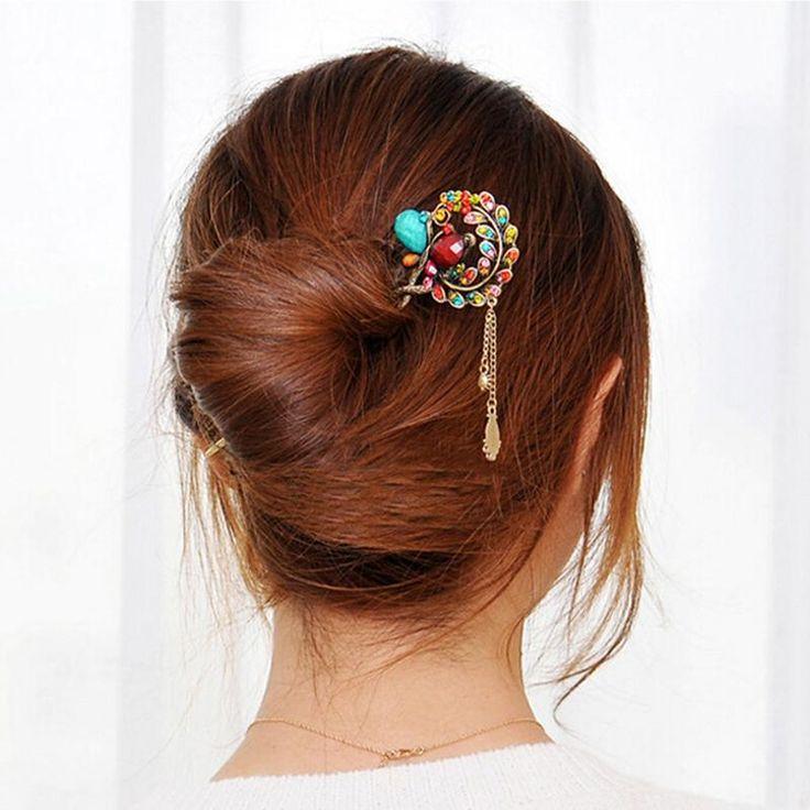 #1 Шт. #Мода #Девушки #Женщин #Винтаж #Красочные #Rhinestone #Ретро #Шпилька #Зажим Для #Волос #Аксессуары  Цена: ₽104,61 руб. / шт.  Заказать:  http://ali.pub/fa8hs