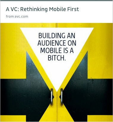 Fred Wilson from avc.com on rethinking #mobile first #mobileux #ux