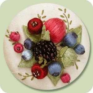 Stumpwork Patterns Free | Stumpwork / Raised Embroidery - Beginner Stumpwork Designs - Berry ...