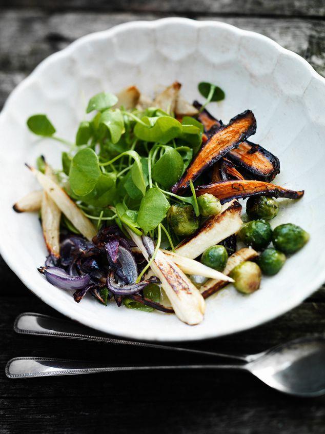 geroosterde groenten met postelein | ZTRDG magazine