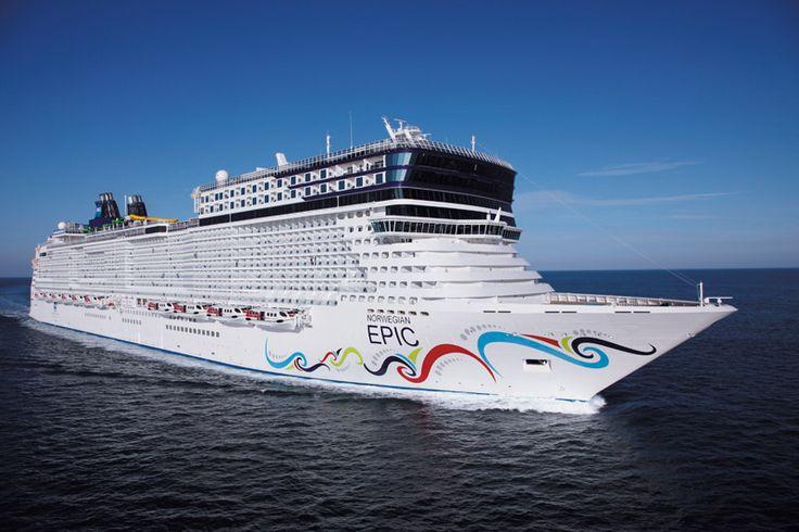 L'Epic de la compagnie Norwegian Cruise line. Capacité : 4200 passagers #croisière #croisierenet.com #voyage #bateau #NorwegianCruiseLine