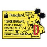 Pin 40554 DLR Global Castmember Lanyard Series - Mickey D Ticket/Tomorrowland {Traded for at WDW 12/13}