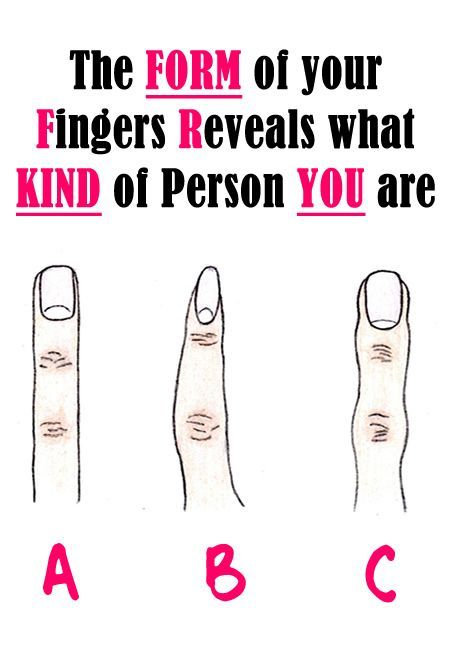 The Form of your Fingers Reveals what KIND of Person YOU are
