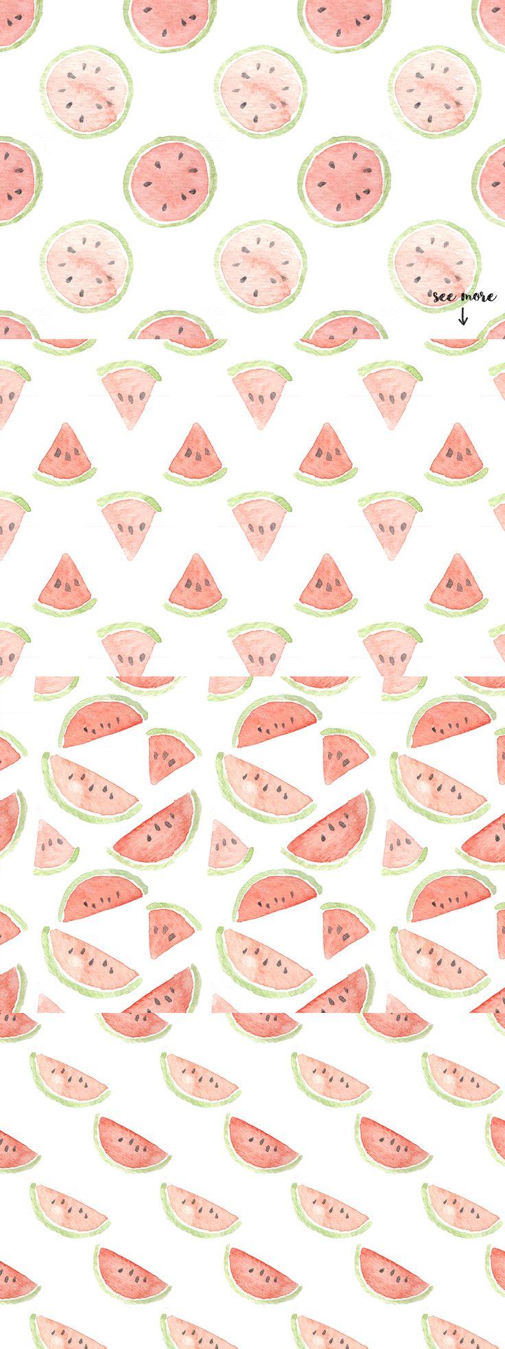 10 Watermelon Patterns by everysunsun on @creativemarket