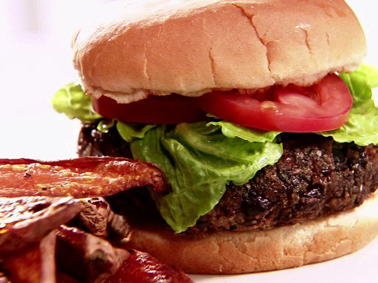 Black Bean Burgers Recipe : Sandra Lee : Food Network - FoodNetwork.com