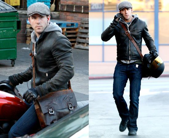Ryan Reynolds.. How to get this look? Leather jacket ...