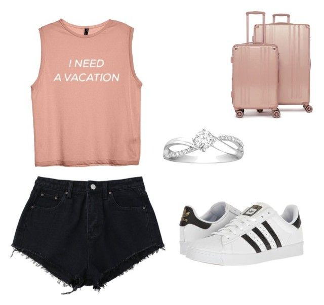 """""""Idk what to say £~£"""" by godsjules on Polyvore featuring adidas and CalPak"""