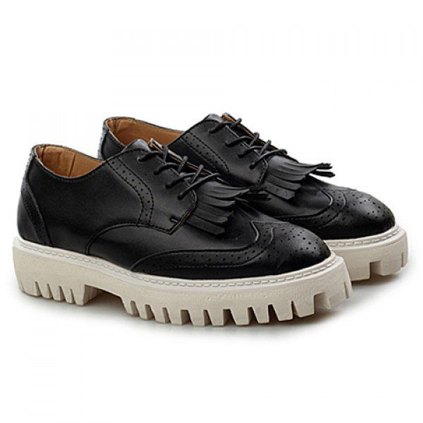 Fashion Engraving and Tassels Design Men's Casual Shoes on dresslily.com
