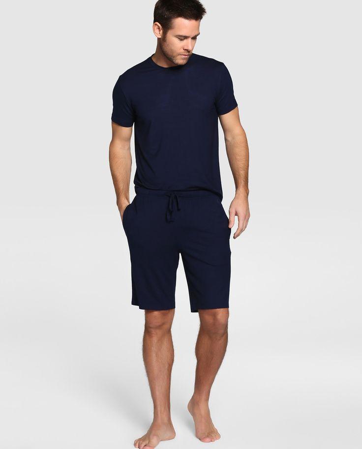 Pantalón de pijama de hombre Polo Ralph Lauren corto de punto azul · Polo Ralph Lauren · Moda · El Corte Inglés