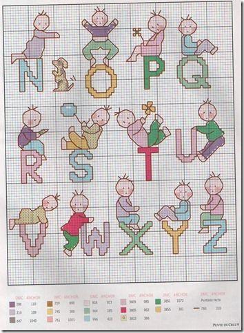 graficos-ponto cruz-alfabeto infantil-monograma-Abecedario infantil