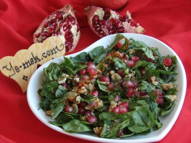 Narlı Ispanak Salatası Resimli Tarifi - Yemek Tarifleri
