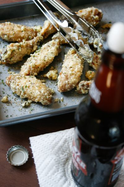 Ultimate Baked Garlic Parmesan Wings - crispy flavorful wings without the frying!