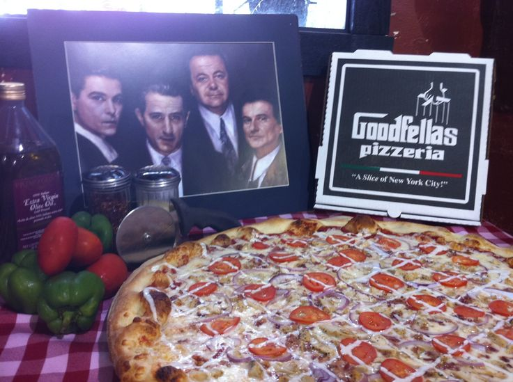 Goodfellas pizza - our Super Bowl meal