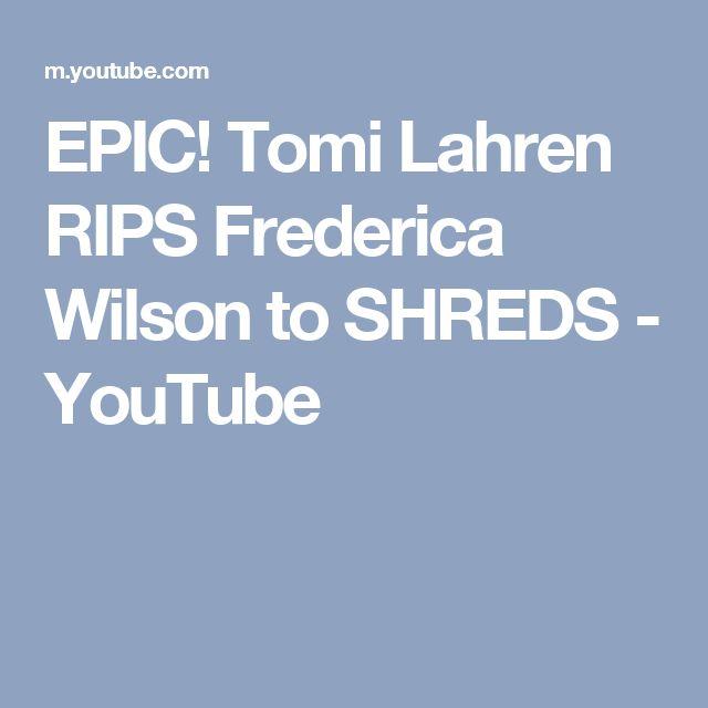 EPIC! Tomi Lahren RIPS Frederica Wilson to SHREDS - YouTube