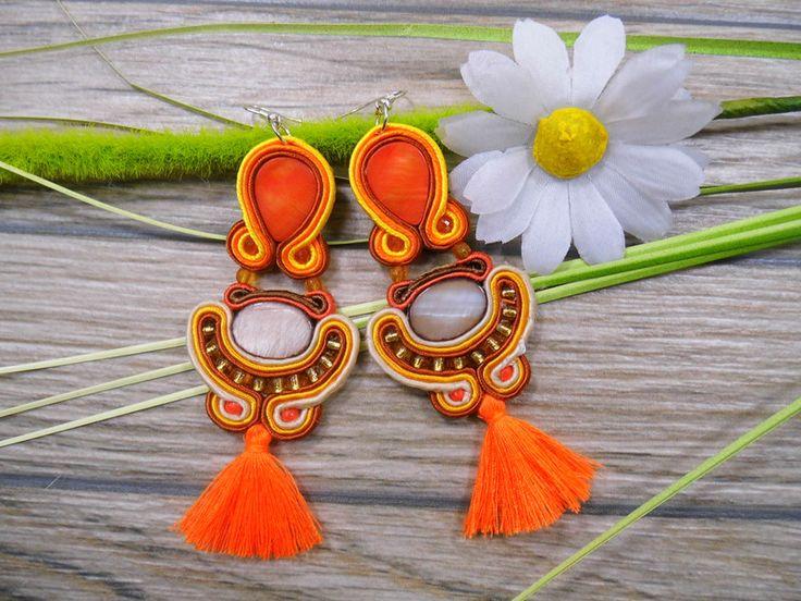 Ohrringe - Ohrringe Technik soutache 11 cm - ein Designerstück von Joana311 bei DaWanda