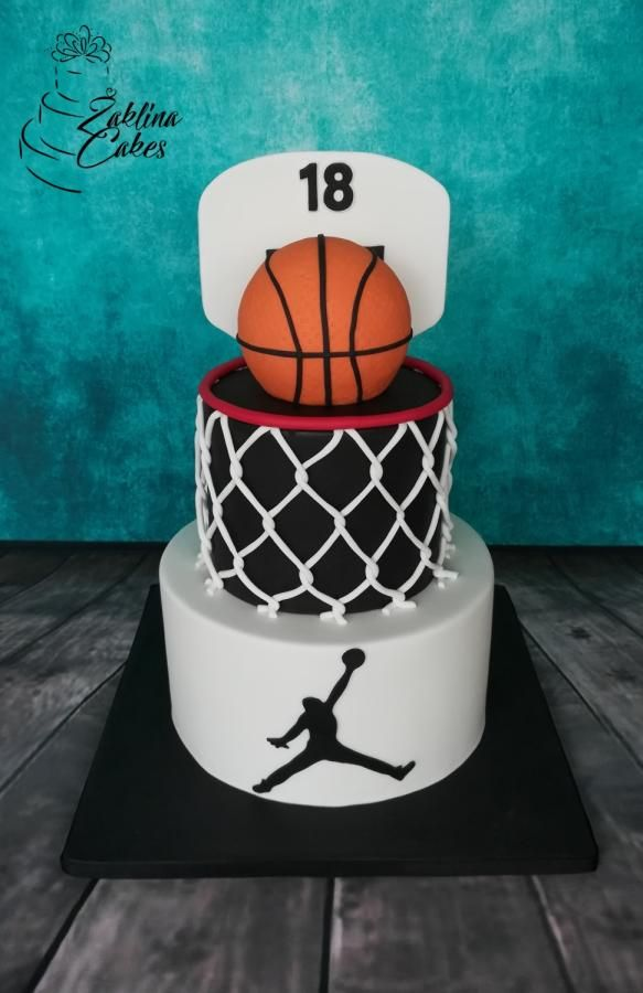 Stupendous Basketball Cake By Zaklina With Images Basketball Cake Funny Birthday Cards Online Aeocydamsfinfo