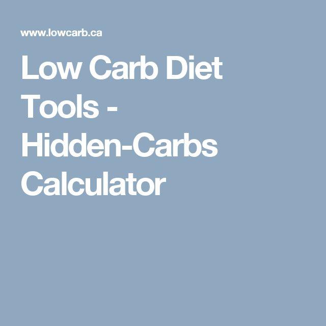 Low Carb Diet Tools - Hidden-Carbs Calculator