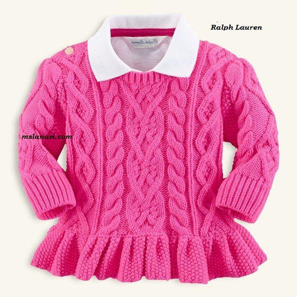 Mis Pasatiempos  Amo el Crochet: Buzo  Jersey de punto para las niñas