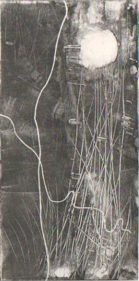 The moon, monotype, 2009
