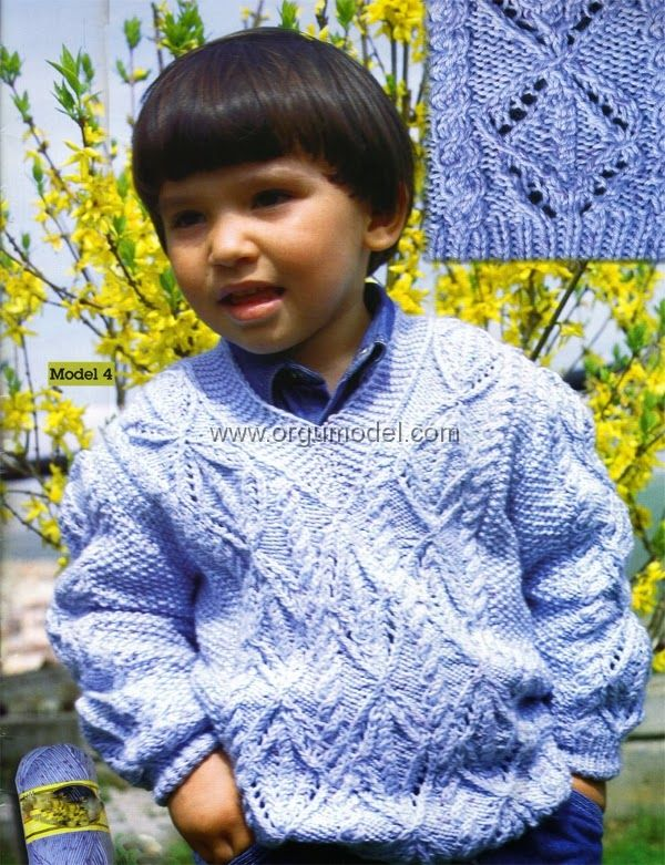 Baklava Desenli Çocuk Kazak Modeli