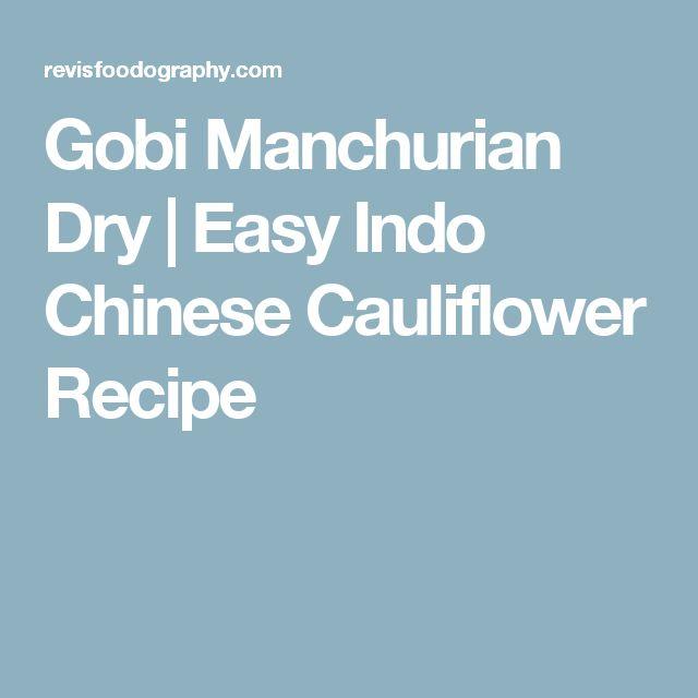 Gobi Manchurian Dry | Easy Indo Chinese Cauliflower Recipe