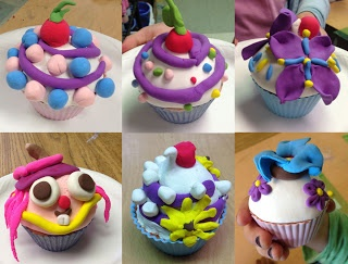 Art Projects for Kids: Model Magic Cupcakes