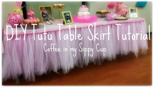 Diy Tutu Tableskirt Diy Pinterest Diy Tutu Do It