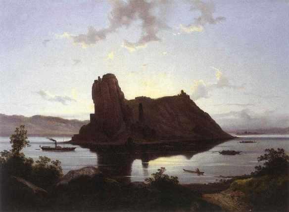 János Hofbauer: The Castle of Dévény, 1830s (Hungarian National Gallery)