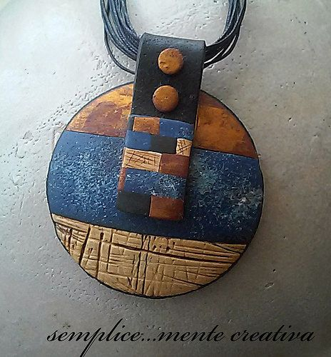 Ethnic polymer clay pendant | Flickr - Photo Sharing!
