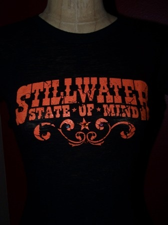 Another great long sleeved burnout for any Oklahoma State fan.