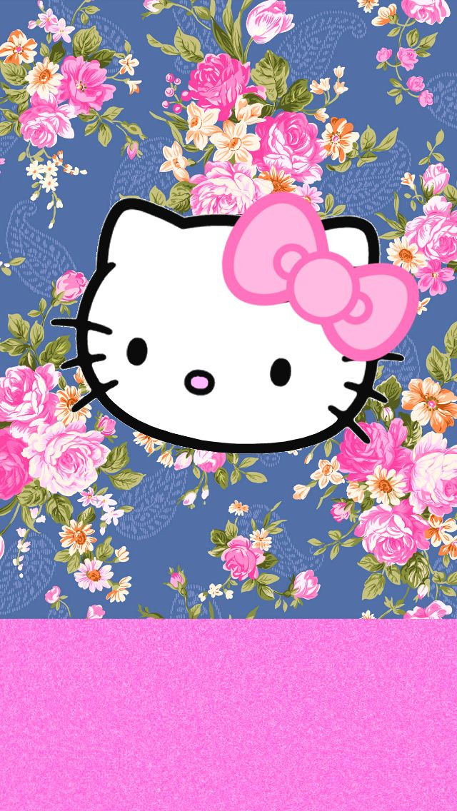 LOve Pink Gray HK wallpapersfreebie Hello Kitty Pinterest