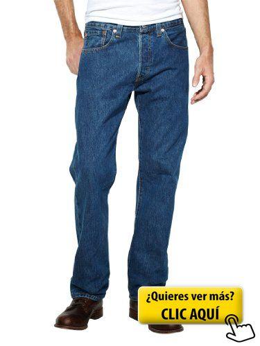 Levis Hombre 501 Original Fit Denim Jeans, Azul,... #pantalones