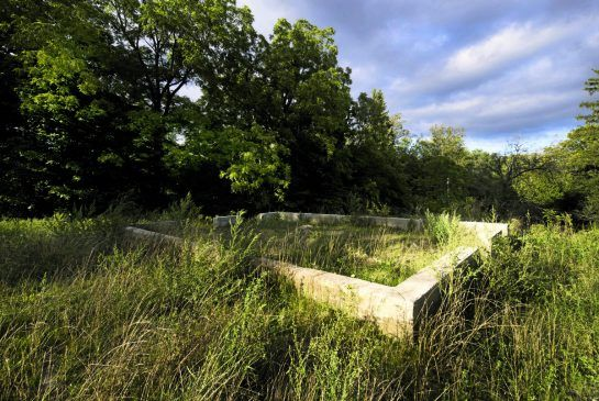 The foundations are all that is left of a demolished home in the hamlet of Altona, in Pickering. Altona is one of dozens of ghost towns scattered about the province.