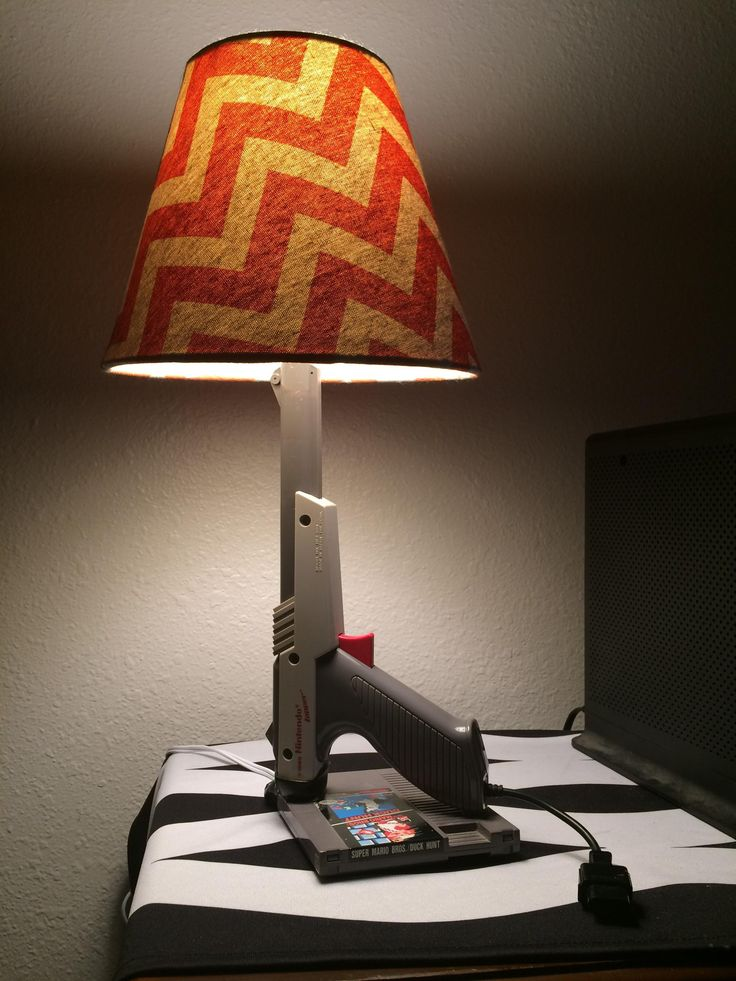 r/thriftstorehauls told me you guys would like this. Lamp I found thrifting for 6$ made out of a Nintendo Zapper and a Super Mario Bros./ Duck Hunt game. The Zapper trigger turns the light on and off http://ift.tt/2ghcRQ7 Check out Mystikz Gaming http://ift.tt/2tVNFmJ