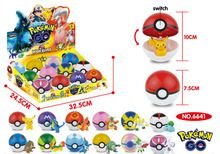 Niños modelos juguetes Pokemon pocket monster pokeball con interruptor