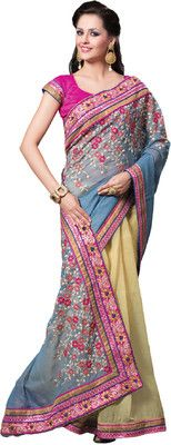 Aparnaa Self Design Embroidered Embellished Georgette Sari - Buy Blue, Beige Aparnaa Self Design Embroidered Embellished Georgette Sari Online at Best Prices in India | Flipkart.com   MRP: Rs. 11,530 Rs. 4,000 65% OFF Selling Price (Free delivery)
