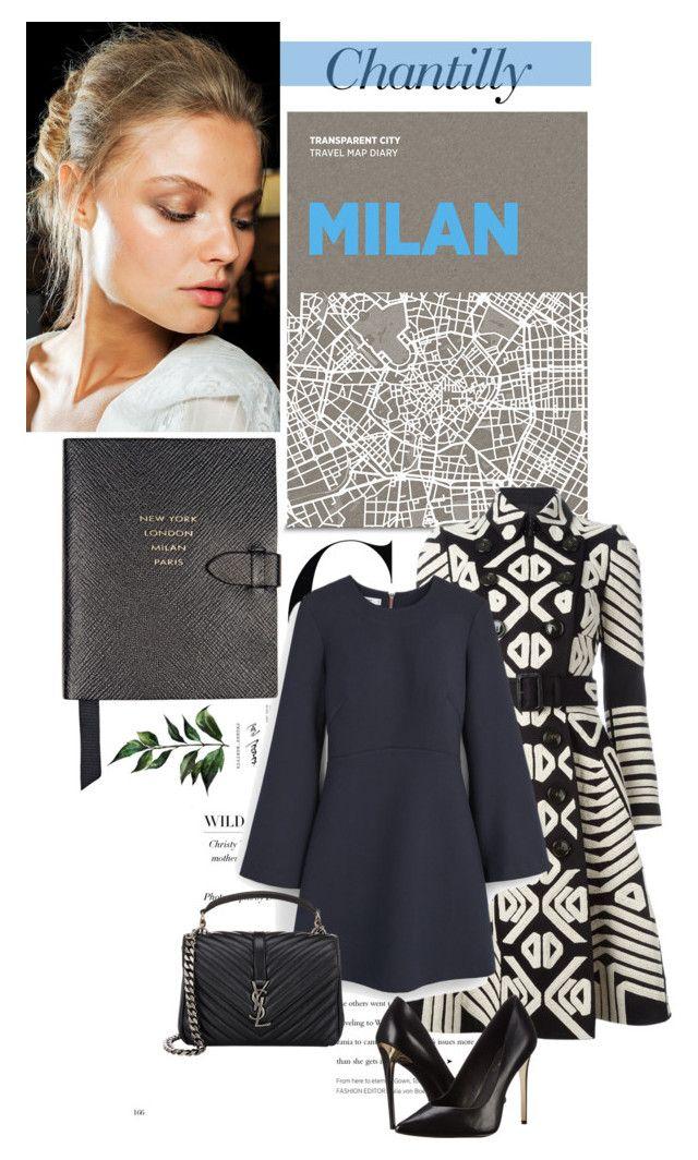 """Chantilly"" by olulajda ❤ liked on Polyvore featuring Palomar, Roberto Cavalli, Burberry, MANGO, Smythson, Rachel Zoe, Yves Saint Laurent, women's clothing, women and female"