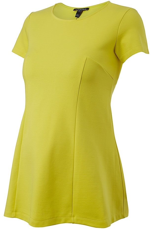 Isabella Oliver Lauryn Seam Detail Maternity Top Lemon | Maternity Fashion | Maternity Tops | Maternity Shirts | Nursing Tops
