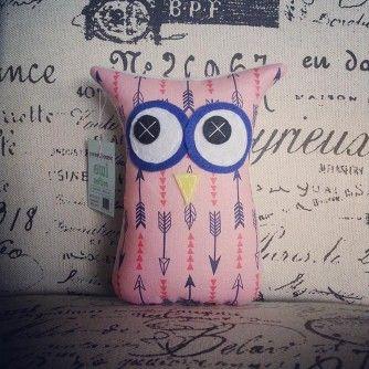 Pink Arrow Owl Softie from www.separ8.com/shop
