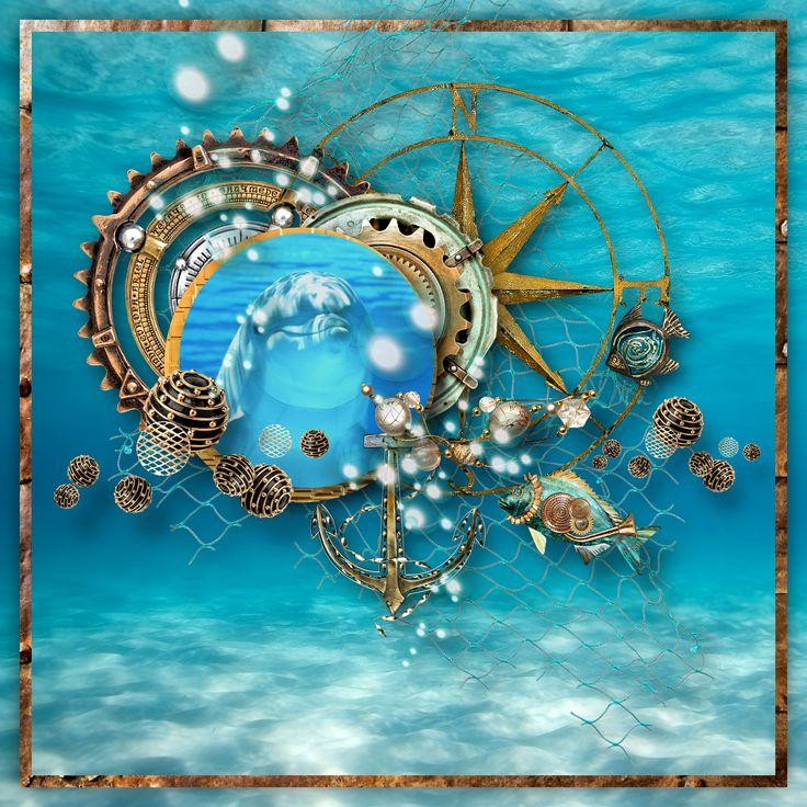 """""""20,000 leagues Under The Sea"""" by D's Design, https://www.dsdesign.biz/?mc_cid=e8588955d9&mc_eid=0d2514e953#Scrap_Store.C/s203845p/20_000_Leagues_Under_the_Sea_Kit, photo Pixabay"""