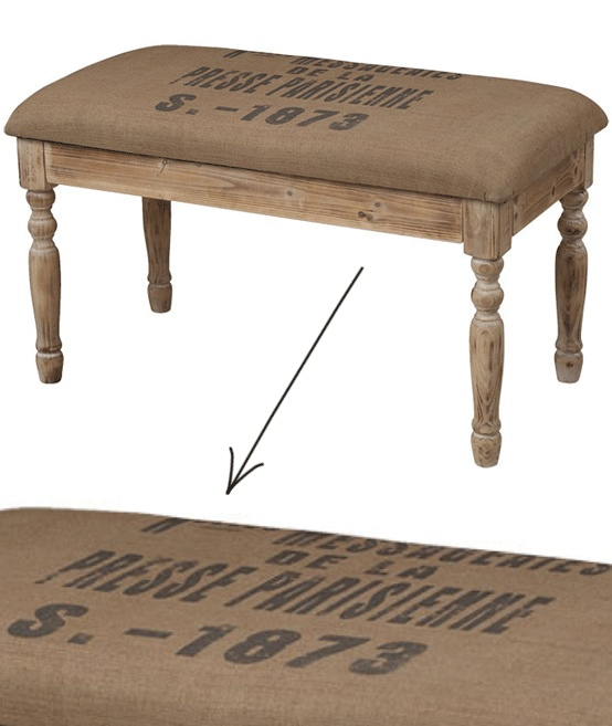 17 best images about burlap bench on pinterest words for Coffee tables homesense