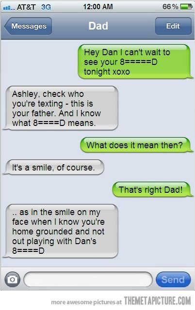 8=====D    One of the best cases I've ever seen of texting the wrong person.