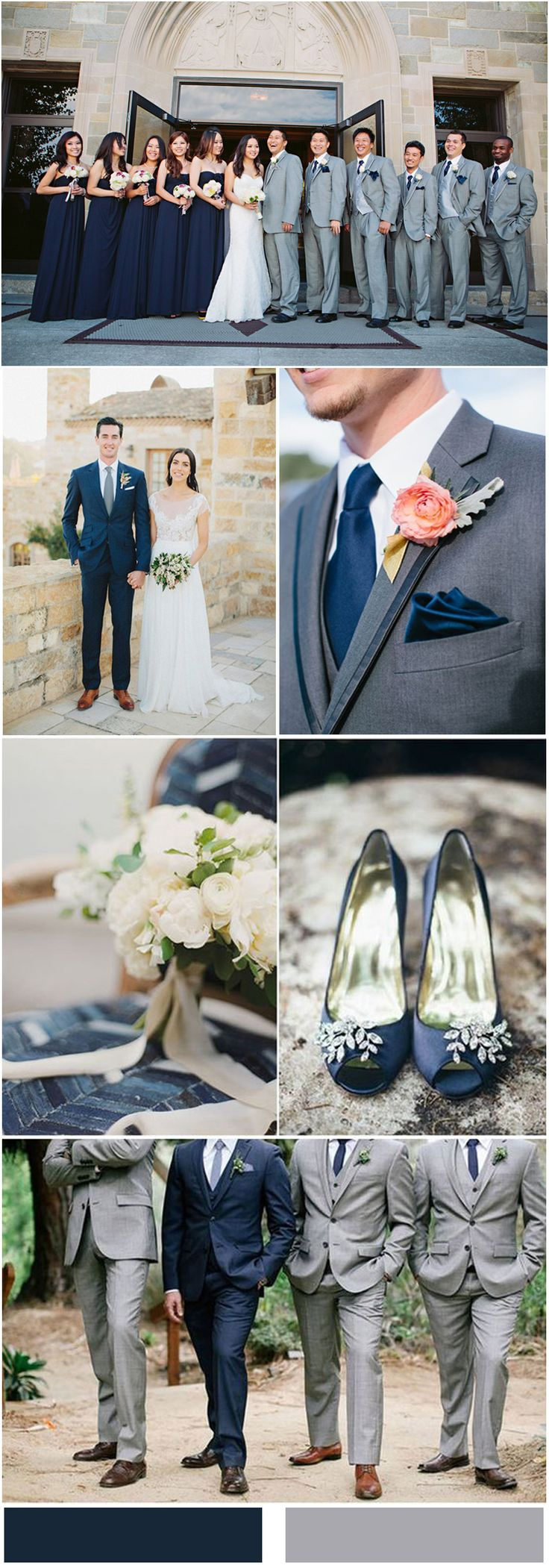 Navy Blue and Grey Wedding Ideas