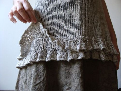 Check out this girly way to finish a sweater! might just be the idea I needed for repairing my dress....