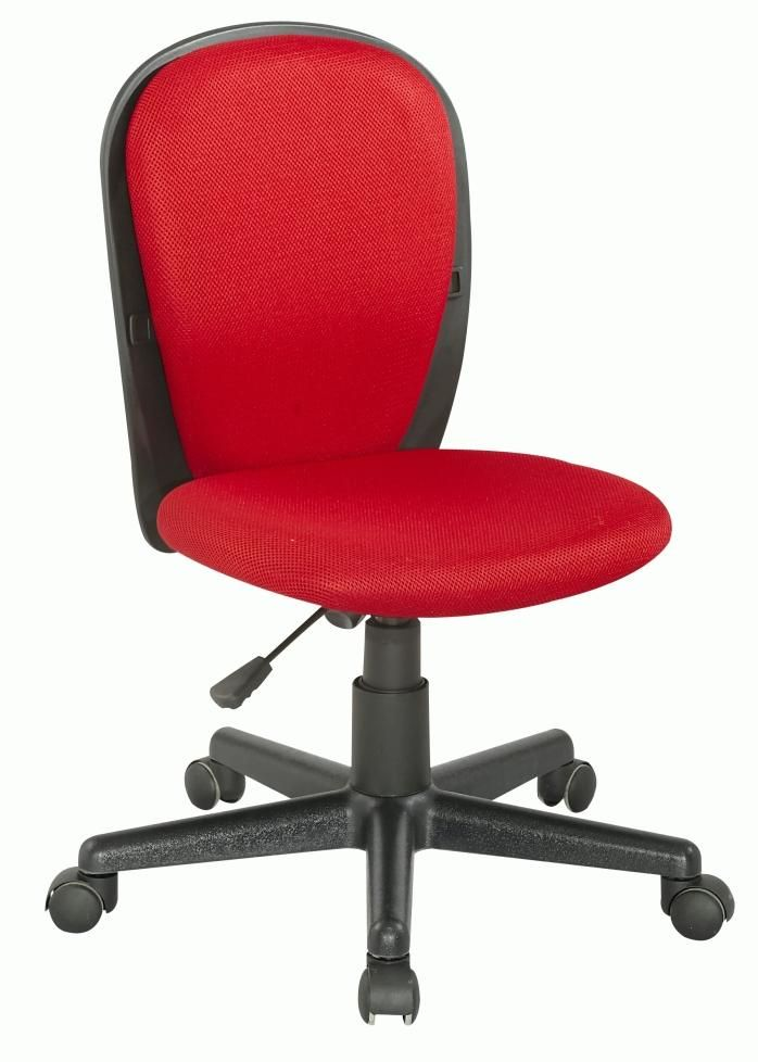 Fabric Back and Seat Youth Desk Chair - Red by Chintaly