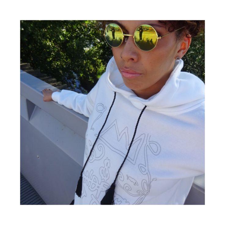 'MIND FUCK' HOODIE with tassel cord www.fform.uk.com #tassel #handmade #hoodie #apparel #mindfuck #clothing